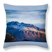 Tucson Mountains Snow Throw Pillow
