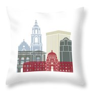 Tucson Skyline Poster Throw Pillow