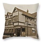 Tudor House Southampton Throw Pillow