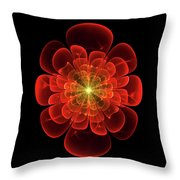 Tudor Rose - Abstract Throw Pillow