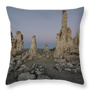 Tufas At Dusk No.2 Throw Pillow by Margaret Pitcher
