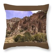 Tuff Cliffs Throw Pillow