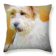Tuffy The Russell Terrier Throw Pillow