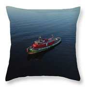 Tug Boat Throw Pillow