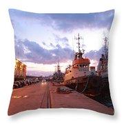 Tug Boats Throw Pillow