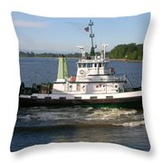 Tugboat America Throw Pillow