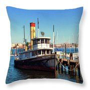 Tugboat Baltimore At The Museum Of Industry Throw Pillow