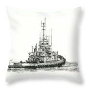 Tugboat Daniel Foss Throw Pillow