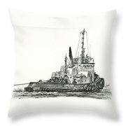 Tugboat David Foss Throw Pillow