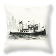Tugboat Henrietta Foss Throw Pillow