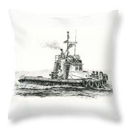 Tugboat Kelly Foss Throw Pillow