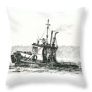 Tugboat Lela Foss Throw Pillow