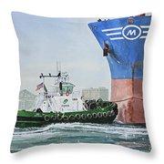 Tugboat Leo Foss Throw Pillow