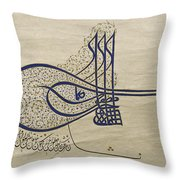 Tughra Of Suleiman The Magnificent Throw Pillow