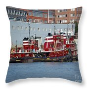 Tugs At Rest Throw Pillow