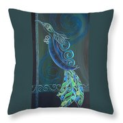 Tui Bird 2 Throw Pillow