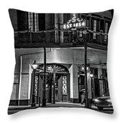 Tujague's 2 Monochrome Throw Pillow