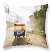 Tuk Tuk Taxi Throw Pillow