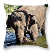 Tukta Swimming Under Mum Throw Pillow
