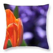 Tulip And Hyacinth Throw Pillow