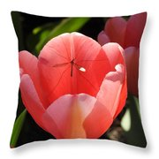 Tulip And The Crane Fly Throw Pillow