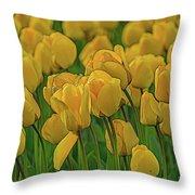 Tulip. Throw Pillow