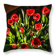 Tulip Beauties Throw Pillow