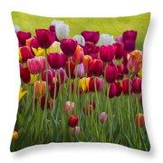 Tulip Bed  0117op Throw Pillow