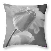 Tulip Black N White Throw Pillow