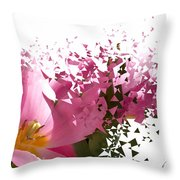 Tulip Blast Throw Pillow