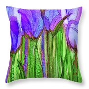 Tulip Bloomies 2 - Purple Throw Pillow