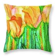 Tulip Bloomies 4 - Yellow Throw Pillow