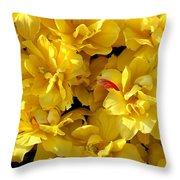 Tulip Bunching Throw Pillow