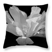 Tulip - Bw Throw Pillow