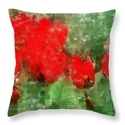 Tulip Decay Deconstructed Throw Pillow