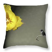 Tulip Dreams II Throw Pillow