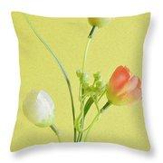 Tulip Family Throw Pillow