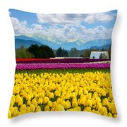 Tulip Festival  Throw Pillow