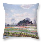 Tulip Fields At Sassenheim Throw Pillow