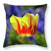 Tulip Flame Throw Pillow