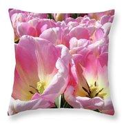 Tulip Flowers Garden Art Pink Tulips Baslee Troutman Throw Pillow
