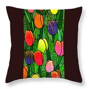 Tulip Glory Throw Pillow
