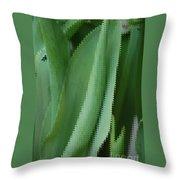 Tulip Greens Throw Pillow