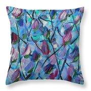 Tulip Harmony- Abstract Art Throw Pillow