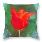 Tulip In Abstract. Throw Pillow