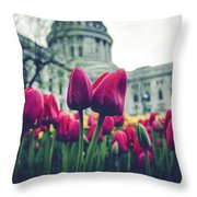 Tulip In Bloom Throw Pillow