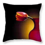 Tulip In Vase Throw Pillow