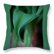Tulip Leaves Throw Pillow