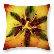 Tulip Macro Throw Pillow