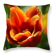 Tulip On Fire Throw Pillow